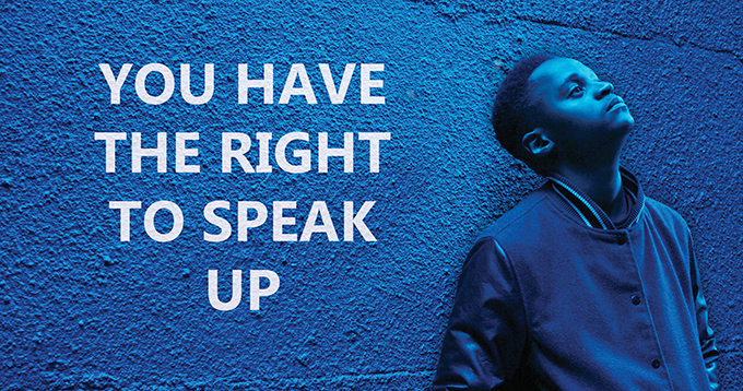 You Have The Right To Speak Up Image